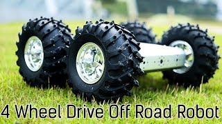 Off Road Robot Arduino   4 Wheel Drive - The Badland Brawler