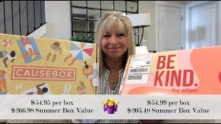 CAUSEBOX  and  BE KIND BY ELLEN  Unboxing * Same price, Same # of items