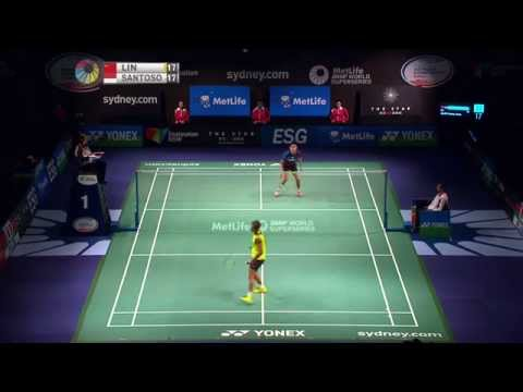[HD] Final - MS - Lin Dan vs Simon Santoso - 2014 The Star Australian Badminton Open