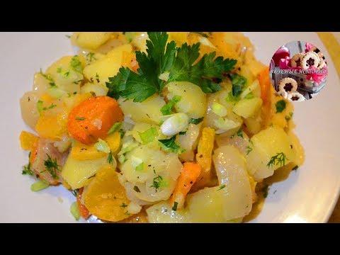 Репа запеченная в духовке с Овощами