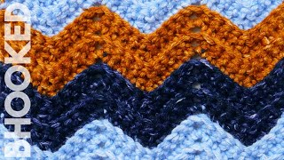 Single Crochet Chevron Stitch