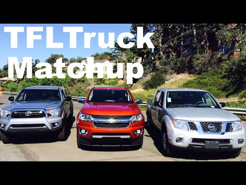2015 Chevy Colorado vs Toyota Tacoma vs Nissan Frontier Matchup Review