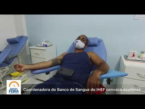Coordenadora do Banco de Sangue do IHEF convoca doadores