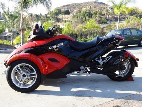 Can Am Spyder Roadster >> 2009 Can Am Spyder BRP Bombardier Trike SE5 Motorcycle Roadster Sport Bike 990CC Review - YouTube