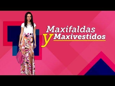Maxi faldas y maxi vestidos