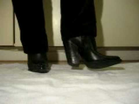Western Ranch boots with 12 cm heel - YouTube