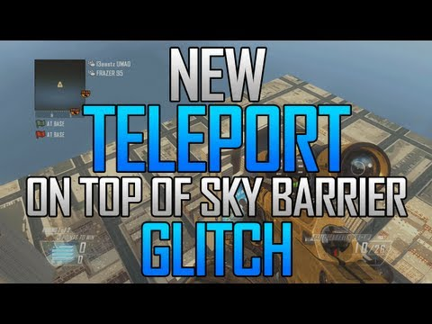 Black Ops 2 Glitches: Teleport on Top of Sky Barrier Glitch on Multiplayer!