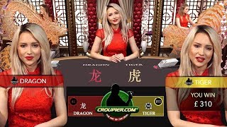 DRAGON TIGER BACCARAT! NEW CASINO GAME vs £2,500! NICE SUITED TIE 50-1 WIN Mr Green Online Casino!