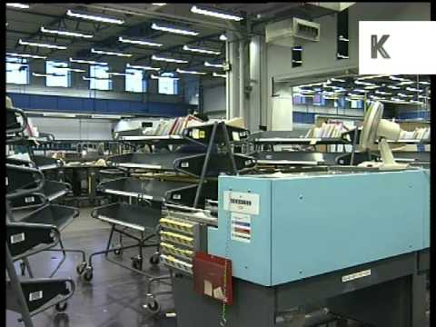 1996 Mount Pleasant Royal Mail Sorting Office, 1990s London Archive Footage