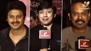 Venkat Prabhu, Prashanth and Srikanth at Saahasam Premiere
