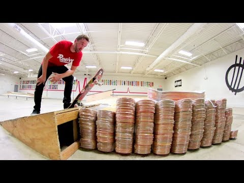 360 Flip Over 500 Skateboards!