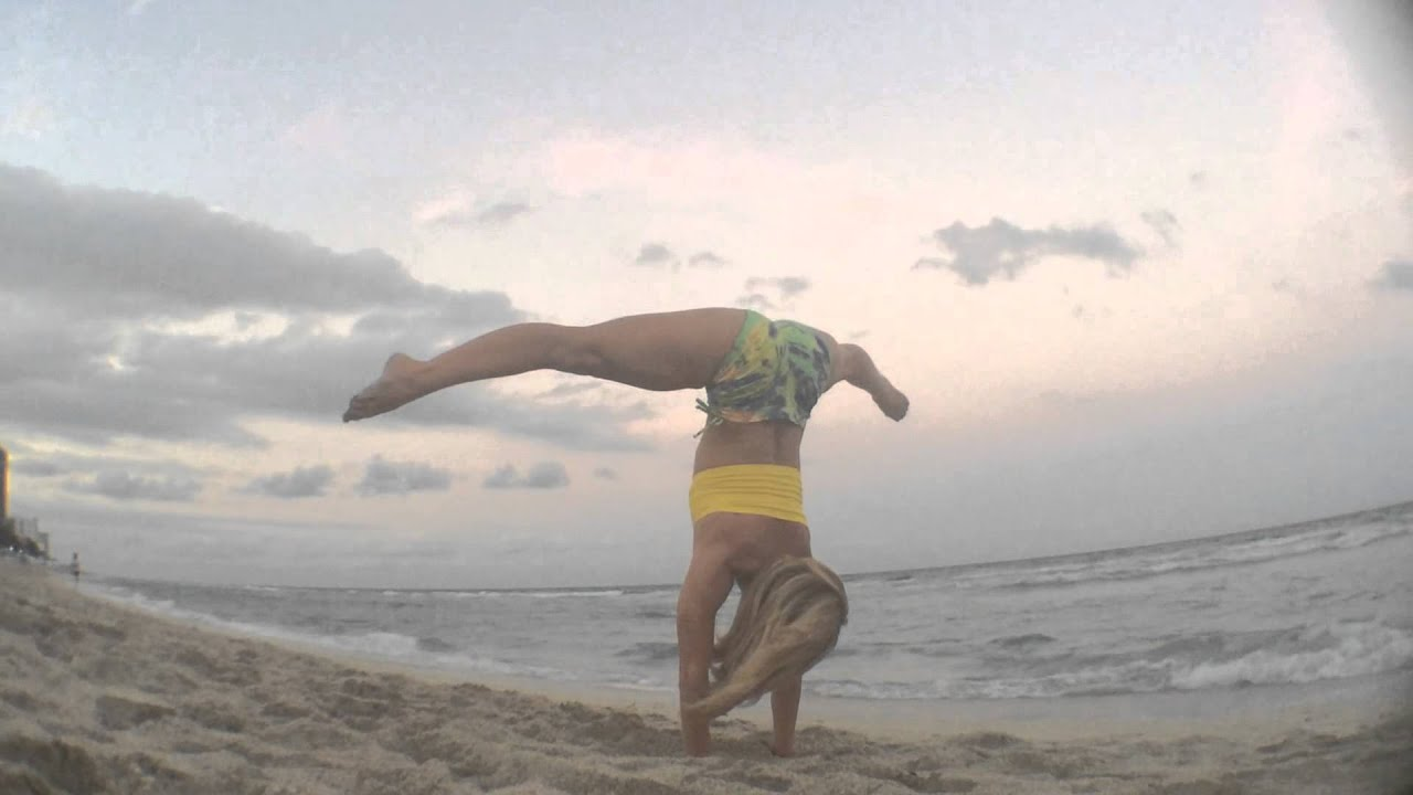 Yoga on The Beach South Beach Yoga in South Beach Handstand
