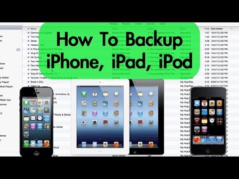 How to Backup iPhone. iPad. iPod with iTunes (PC & Mac)