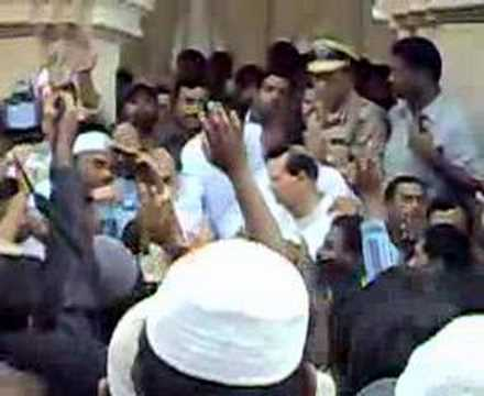 MiM Leader Akbaruddin Owaisi Protest inside Mecca Masjid