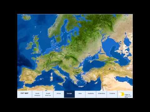 Карта Земли после таяния льдов