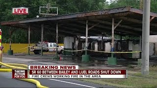 Building fire shuts down S.R. 60 in Mulberry