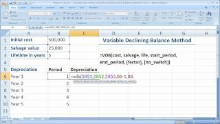 Download Lagu Finance in Excel 7 - Calculate The Declining Balance Method of Depreciation in Excel - Using VDB() Gratis STAFABAND