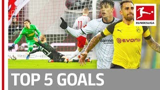 Top 5 Goals on Matchday 13 -  Alcacer, Werner, Havertz & More