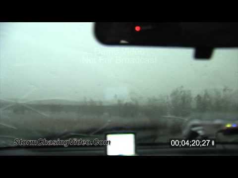 5/30/2011 Large hail destroys car and funnel cloud and wall cloud B-Roll.