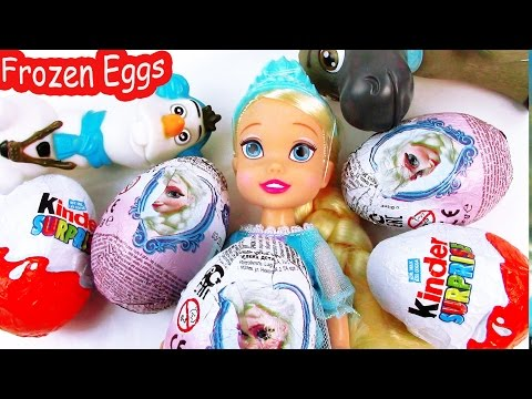 Kinder Surprise Eggs Disney Frozen Chocolate Queen Elsa Mystery Toy Unboxing Olaf Opening Part 2