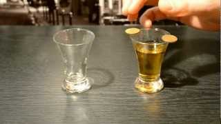 Trick with the shot glasses and two coins