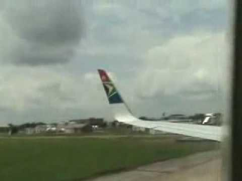 12-11-2007 Lusaka airport, Zambia Panic gripped on lookers and passengers at the Lusaka International airport when a South African airways passenger plane hit into a stationary truck upon...