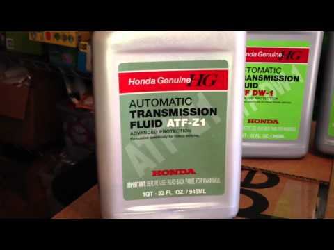 Honda ATF DW-1 vs. AFT-Z1 Automatic Transmission Fluid Info