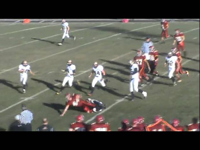 11-19-11 - Connor Weisser runs hard for 8 yards
