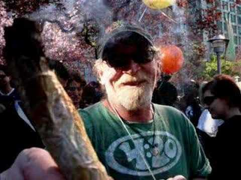 Marijuana Man of Pot-Tv Smokes Two Joints! (Actual Footage). Video