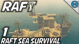 Raft   EP 1   Raft Sea Survival   Let's Play Raft Gameplay (S-1)