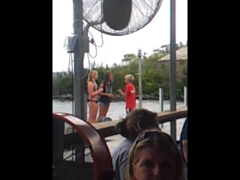 12 YEAR OLD BOY TAKES A BET AND GET'S KISSED BY TWO LAKE GIRLS! WINNING!