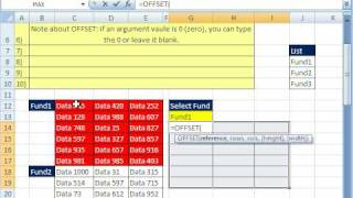 Excel Magic Trick 341 Extract Data w OFFSET & INDEX function