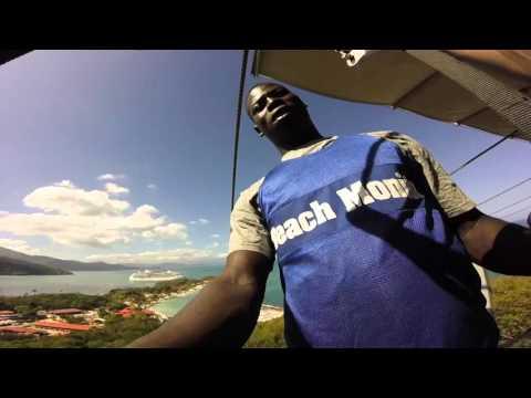 World's Longest Zipline over Water - Labadee, Haiti