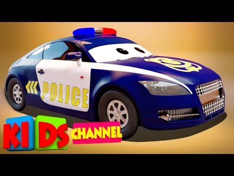 3D Car Garage | Police Car | Toy Car Factory
