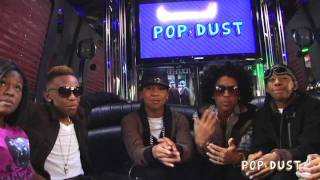Mindless Behavior perform on the POPDUST Party Bus