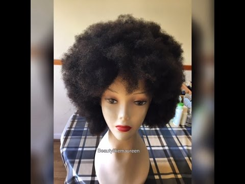 Watch Me Slay This Afro Wig Start To Finish No Closure No Frontal No Elastic Band.
