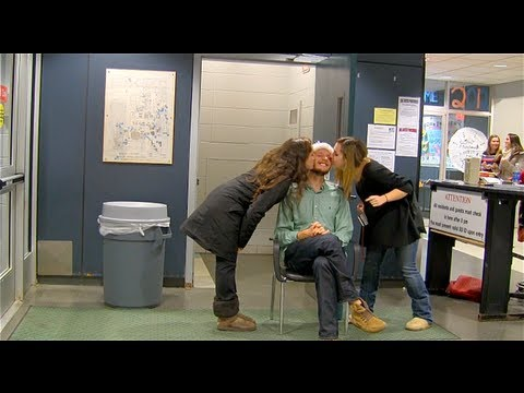 Mistletoe Kissing Prank- College Dorm