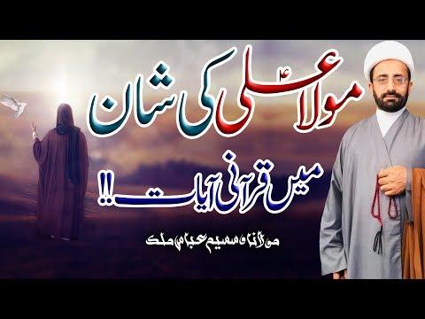 Maula Ali (a.s) Ki Shan Myn Qura'ani Ayaat !! | Maulana Waseem Abbas Malik | 4K