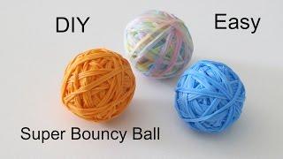 DIY: Super Bouncy Ball/Rainbow Loom Bouncing Ball 3D Jump Up to 12+ Feet