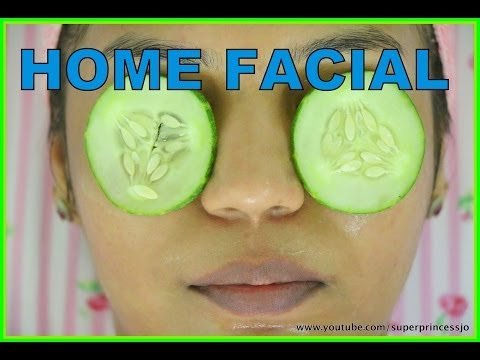 HOME FACIAL How To Do FACIAL At HOME Step By Step Salon Quality Natural Products Remove Blackheads