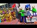 Can Baldi & Sonic the Hedgehog Hide from the Animatronics? (GTA 5 Mods FNAF RedH