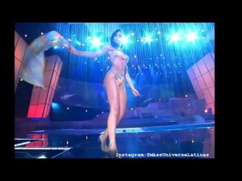 Catherine Daza Manchola, Miss Colombia 2003 en traje de bano y gala en Miss Universe 2004