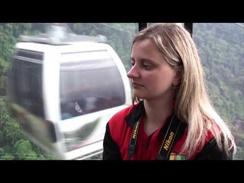 Mochila de viaje en Caracas, capital de Venezuela