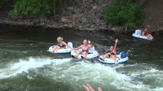 3 Girls Tubing in Golden Colorado