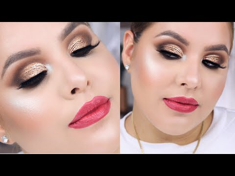 Makeup Tutorial using Boxycharm Makeup: Bronze Cut Crease  | Nelly Toledo