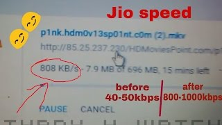 increase jio speed for mobile hotspot connected devices.