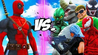 DEADPOOL VS SPIDER-MAN ENEMIES - VENOM, CARNAGE, GREEN GOBLIN, RHINO, DOCTOR OCTOPUS VS DEADPOOL