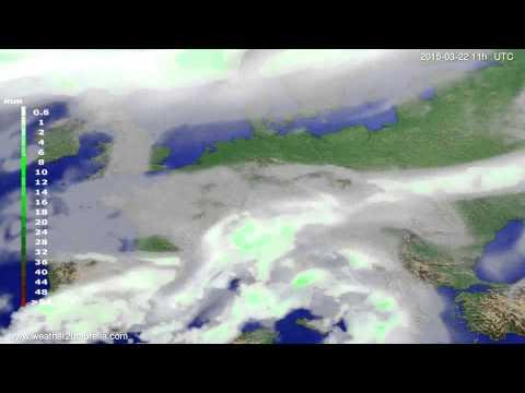 Precipitation forecast Europe 2015-03-18