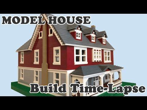 LEGO Model Dream House Time-Lapse Build