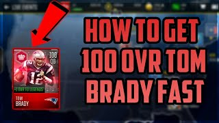 HOW TO GET 100 OVR TOM BRADY MOBILE MASTER VERY FAST - MADDEN MOBILE 18